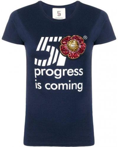 Футбольная синяя футболка с пайетками 5 Progress