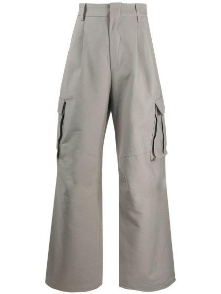 Spodnie z wysokim stanem bawełniane z paskiem Ader Error