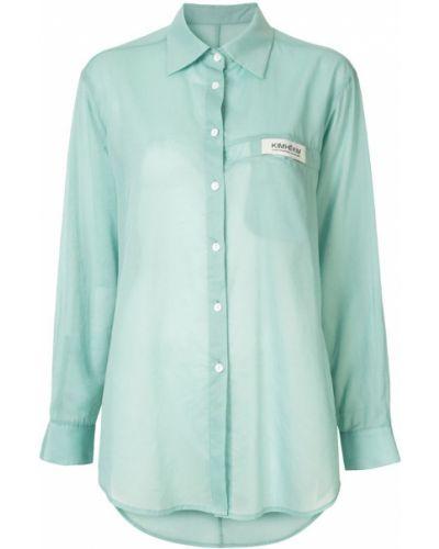 Рубашка с длинным рукавом классическая свободного кроя Kimhekim