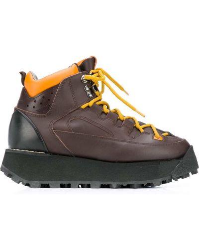 Кожаные ботинки трекинговые - коричневые Acne Studios