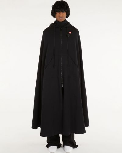 Bawełna bawełna czarny peleryna z kieszeniami Raf Simons