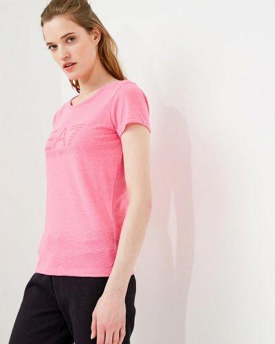 Розовая футболка Ea7