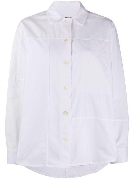 Белая классическая рубашка с воротником на пуговицах оверсайз Soulland