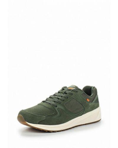 Зеленые замшевые кроссовки Strobbs