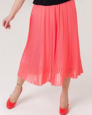 Плиссированная юбка миди из вискозы Sparada