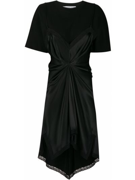 Sukienka mini z jedwabiu koszulowa Alexander Wang