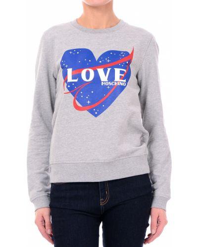 Джемпер серый Love Moschino