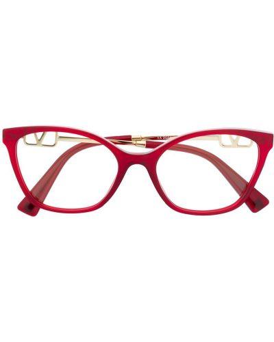 Очки кошачий глаз хаки металлические Valentino Eyewear