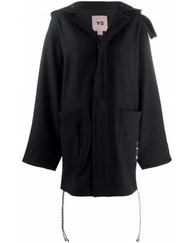 Черная куртка оверсайз с капюшоном Y-3