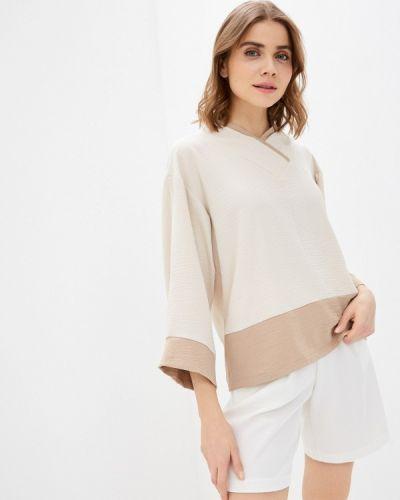 Бежевая блузка с длинными рукавами Adzhedo