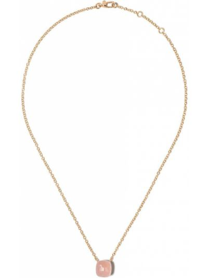 Ażurowy różowy złoty naszyjnik Pomellato