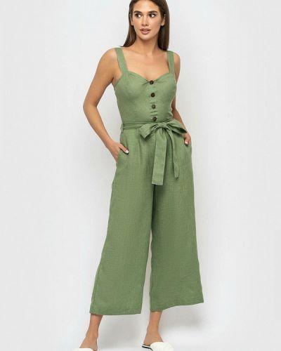 Зеленый брючный комбинезон Morandi