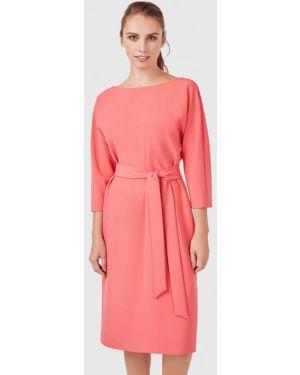 Платье коралловый прямое Pompa