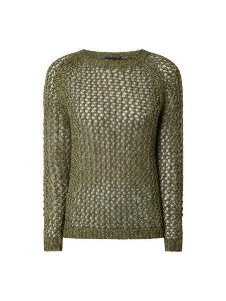 Prążkowany zielony sweter wełniany Luisa Cerano