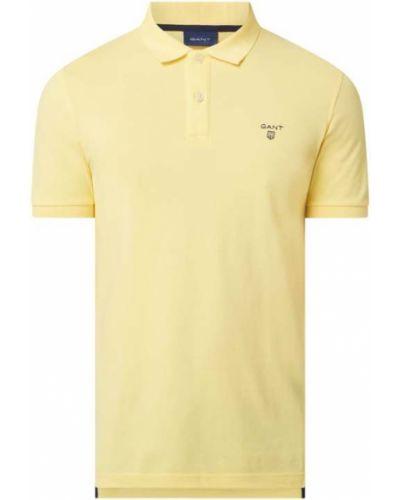 Żółty t-shirt bawełniany Gant
