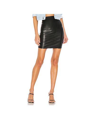 Кожаная юбка юбка-шорты байкерская Commando