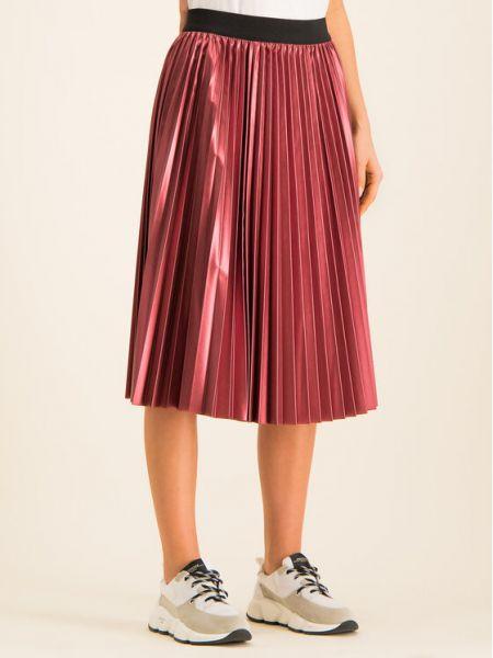 Spódnica plisowana - bordowa Max&co.