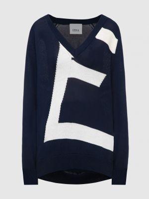 Темно-синий пуловер Erika Cavallini