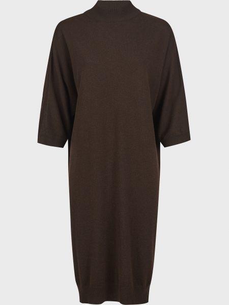 Коричневое шерстяное платье Kontatto