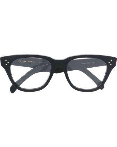 Черные очки квадратные прозрачные Céline Eyewear