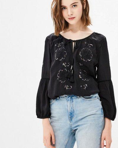 Черная блузка осенняя Wallis