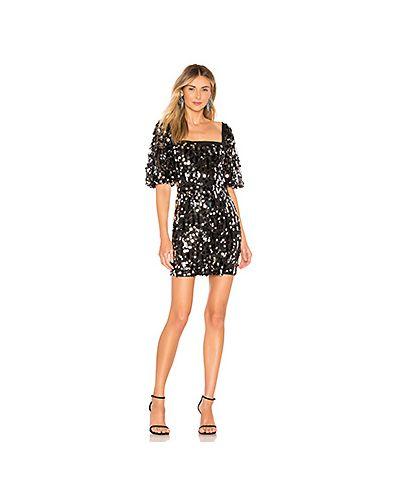Платье мини с пайетками с поясом H:ours