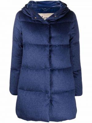 Куртка с капюшоном - синяя Herno
