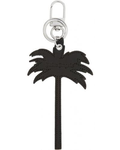 Серебряный брелок с тиснением Palm Angels