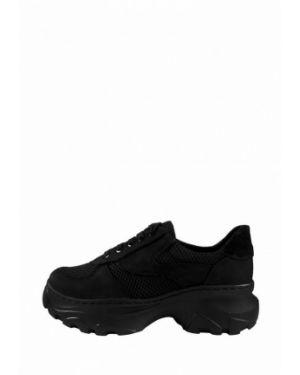 Черные текстильные кроссовки на платформе Libero