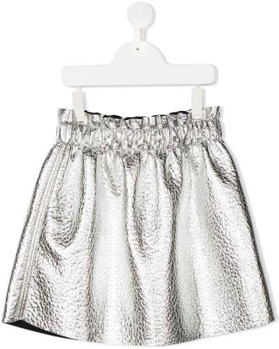 Серебряная прямая юбка металлическая Andorine