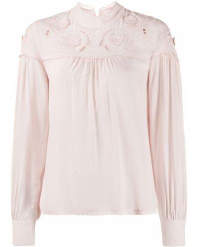 Блузка с длинным рукавом розовая с манжетами See By Chloe
