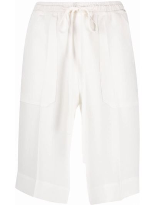 Шелковые белые шорты с карманами Mrz