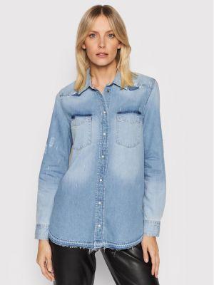 Bluzka - niebieska Guess