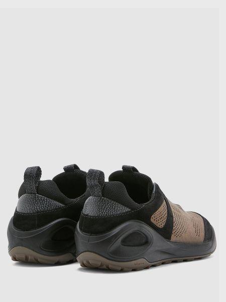 Коричневые кожаные полуботинки на шнуровке Ecco
