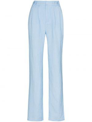 Niebieskie spodnie z wiskozy Danielle Guizio