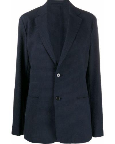 С рукавами синий удлиненный пиджак на пуговицах Theory