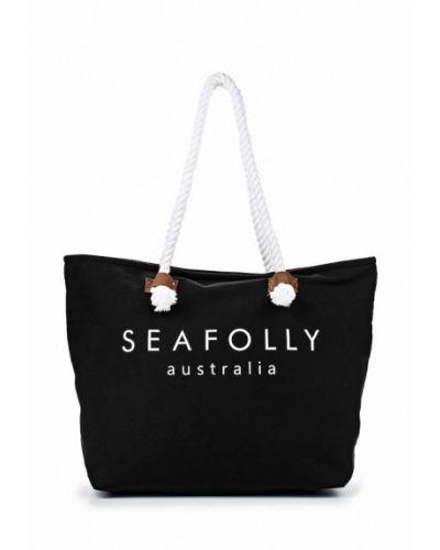 Черная пляжная сумка Seafolly Australia