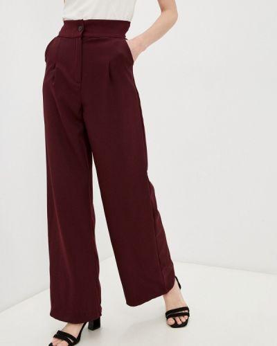 Повседневные бордовые брюки Moki