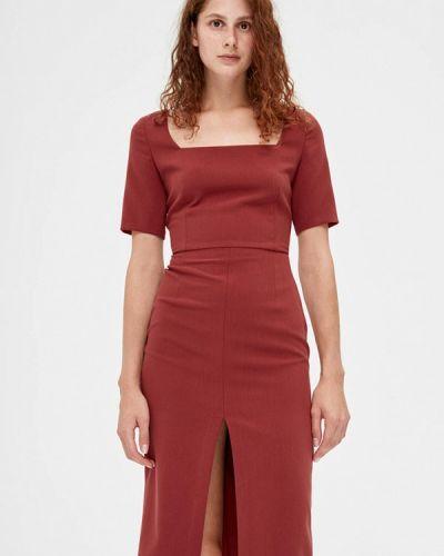 Красное платье-футляр Lime