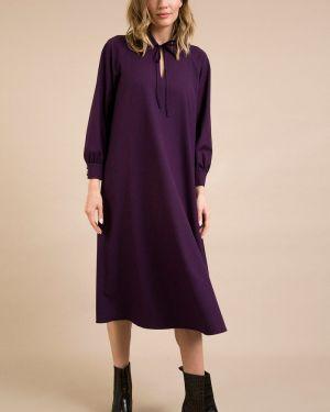 Повседневное платье миди - фиолетовое Emka