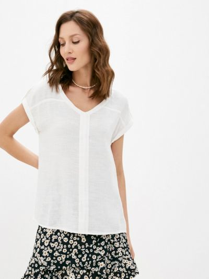 Белая блузка с короткими рукавами Mavi