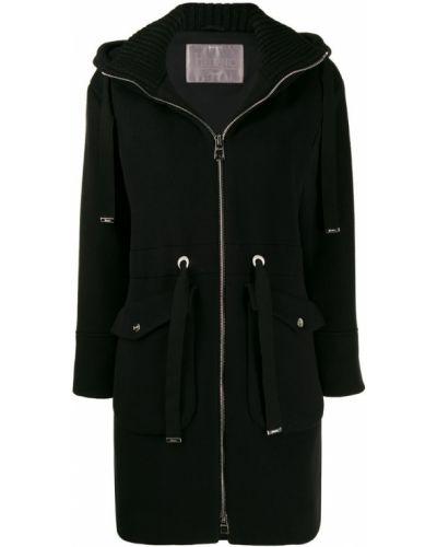 Пальто с капюшоном без воротника шерстяное Herno