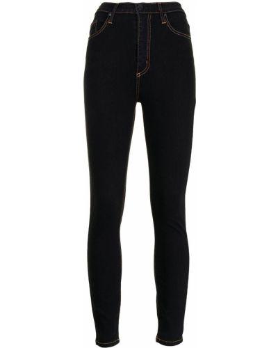 Хлопковые с завышенной талией черные джинсы-скинни Nobody Denim