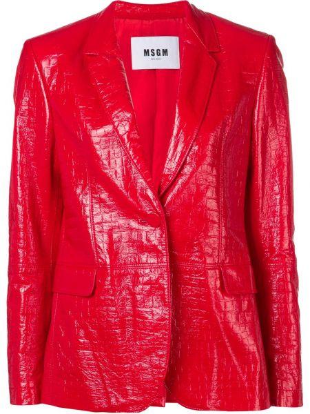 Кожаная куртка из кожи крокодила на пуговицах Msgm