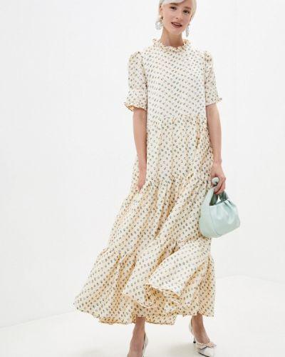 Бежевое прямое платье Sister Jane