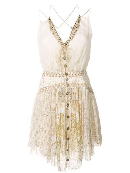 Платье на пуговицах на бретелях Camilla