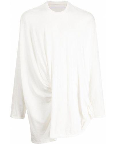 Biała koszulka z długimi rękawami Julius