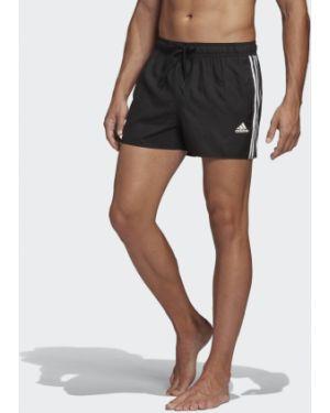 Спортивные пляжные черные пляжные шорты с нашивками Adidas