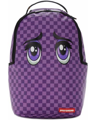 Fioletowy z paskiem plecak na paskach Sprayground