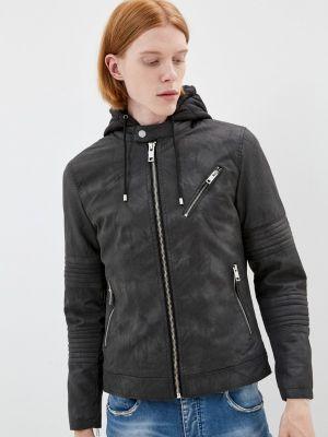 Серая кожаная куртка Terance Kole